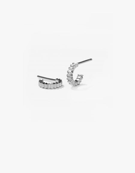 Solaire Hoops Small - Sterling Silver