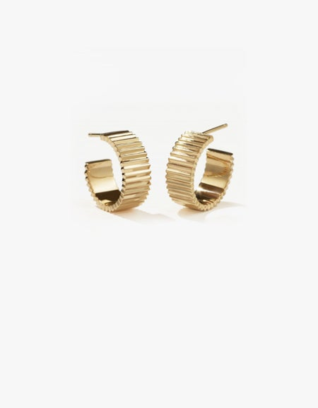 Solaire Hoops Wide - Gold Plated
