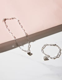 Meadowlark x Superette Camille Paperclip Necklace - Sterling Silver