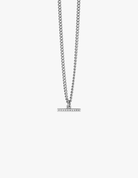 Petite Fob Chain Necklace - Sterling Silver
