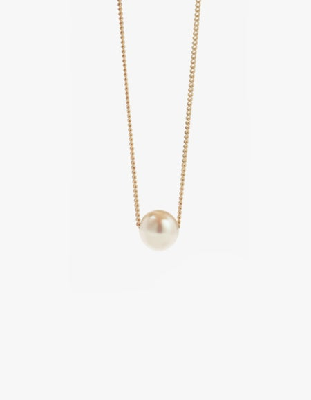 Selene Pearl Necklace - 9ct Gold