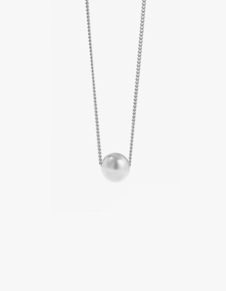 Selene Pearl Necklace - Sterling Silver