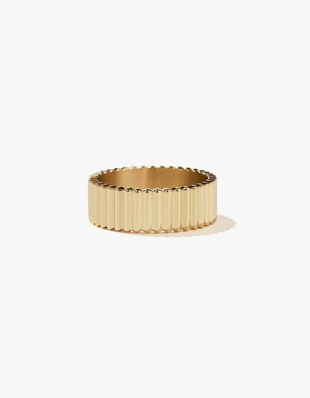 Solaire Band Wide - Gold Plated