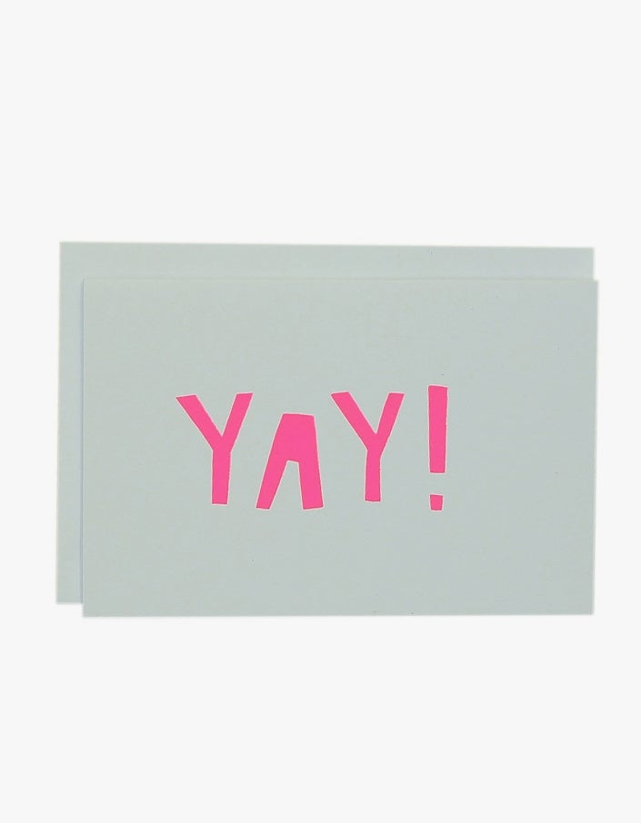 Yay Card - Neon Pink/White