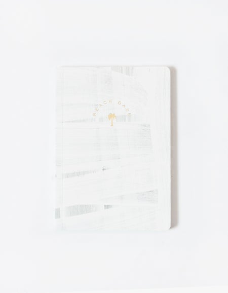 Beach Daze Notebook - White