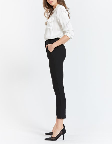 Layla Ankle Stretch Pant - Black