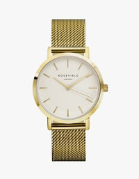The Mercer Watch - White/Gold Plated