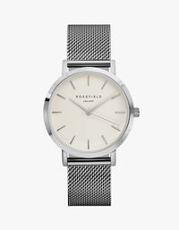 The Mercer Watch - White/Silver Plated