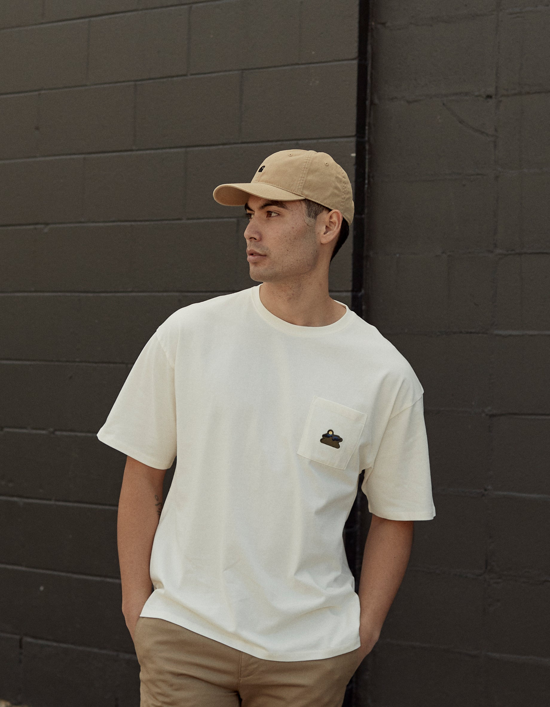 Mountain Patch Pocket Relaxed Tee - Ivory