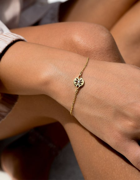 Zia Bracelet - Gold Plated/White Zircon