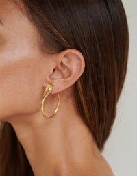Protect Me Hoops - Gold Plated