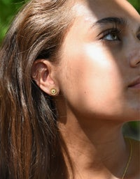 Child of The Sun Earrings - Gold Plated