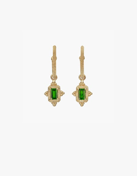 Marina Earrings - Sterling Silver/Chrome Diopside