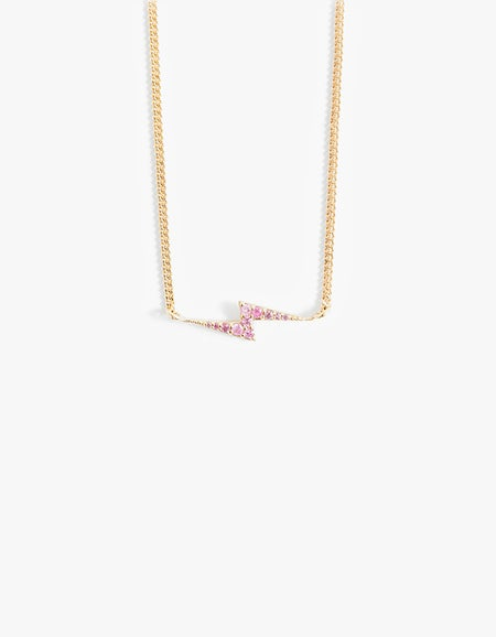 Zoe & Morgan x Superette Spark Necklace - Sterling Silver/Pink Sapphire